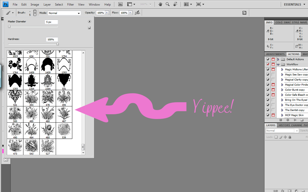 Tutorial – Digital Brushes how-to – It Works For Bobbi!