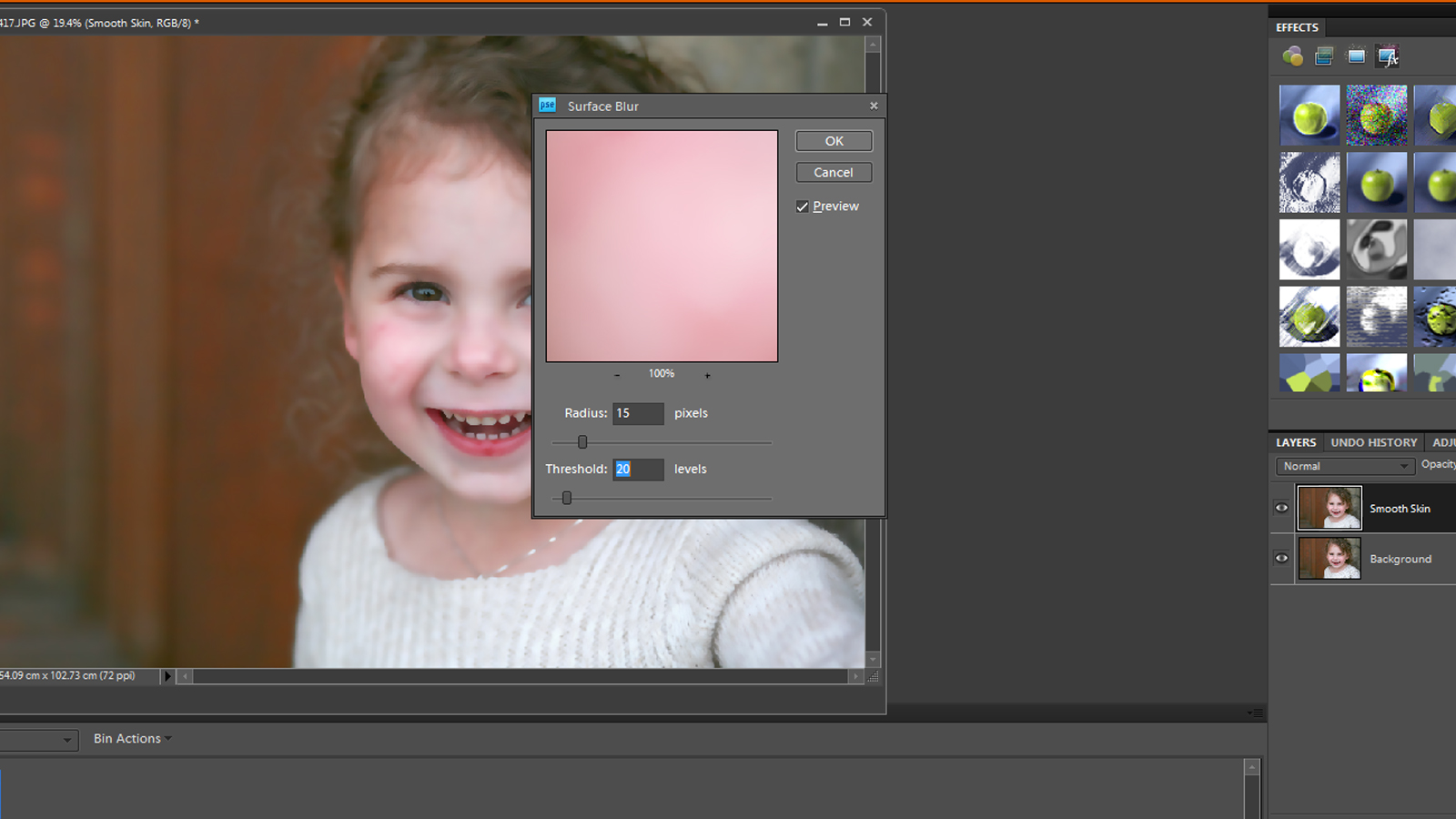 Tutorial smoothing skin in photoshop elements it works for bobbi 4 now your photo will look smooth all over we dont want that right we just want the skin to be smooth and we definitely dont want it to look plastic baditri Images