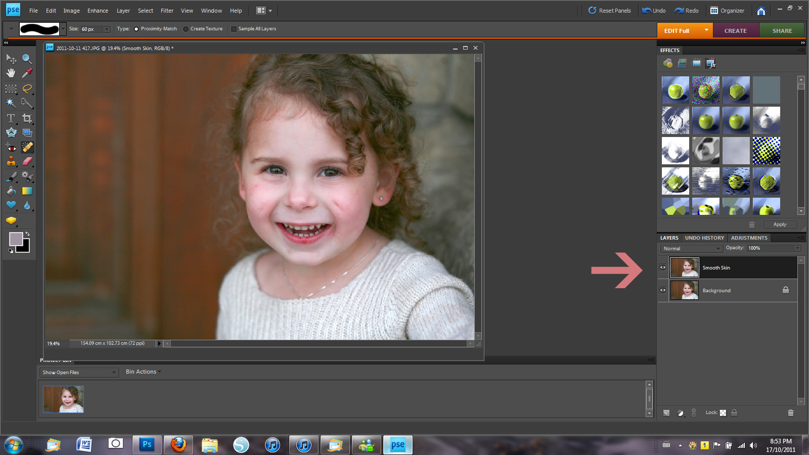 Tutorial smoothing skin in photoshop elements it works for bobbi 3 now you will add the surface blur filter which will smooth and kind of blur the entire photo dont worry about that well be fixing it soon baditri Images