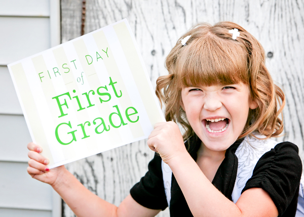First Day Of School And Free Printables It Works For Bobbi