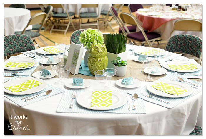 Spring Table Setting – Relief Society March Party! – It Works For Bobbi!