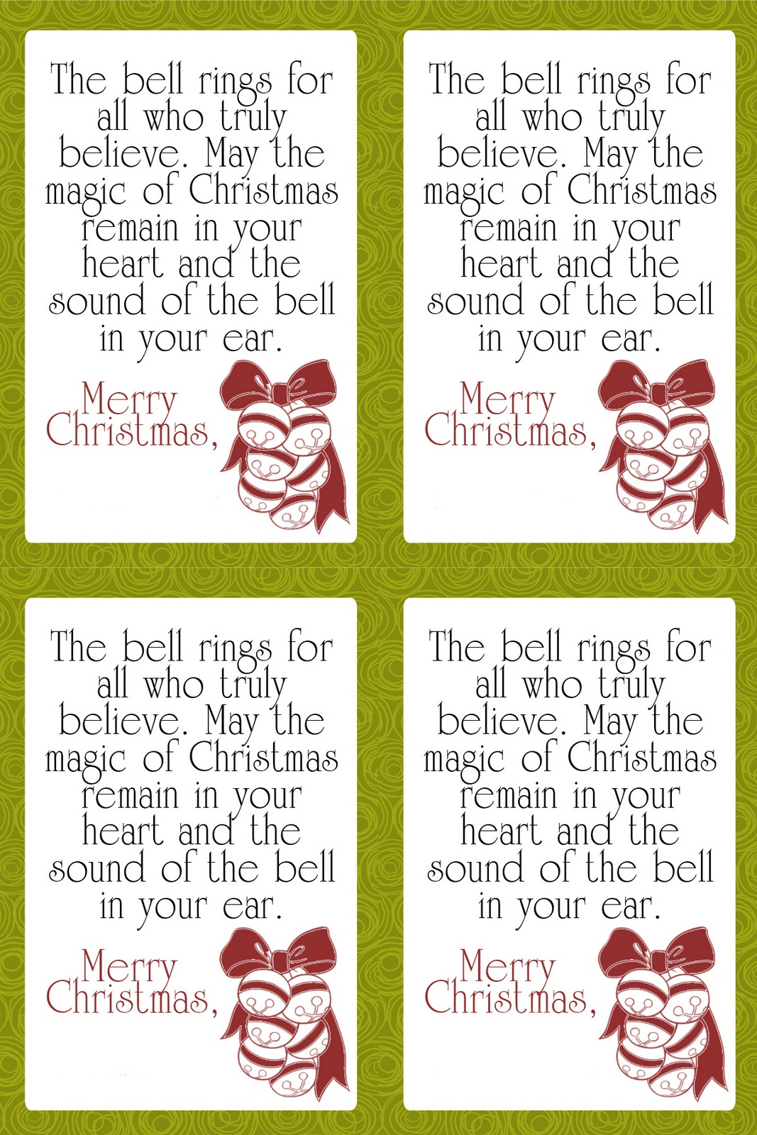Free friday cute sleigh bell neighbor gift tags it works for free friday cute sleigh bell neighbor gift tags voltagebd Images