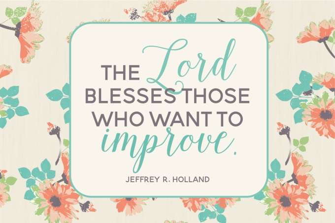 4x6 The Lord Blesses Those Who Want To Improve - free 4X6 printable